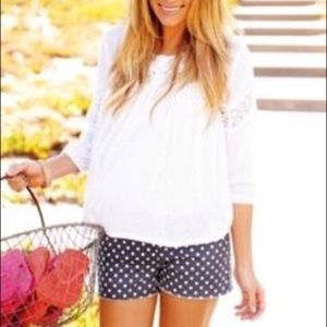 LC Lauren Conrad polka dot denim shorts size 6